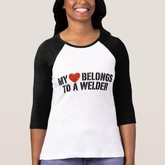 T-shirt Mon coeur appartient à une soudeuse
