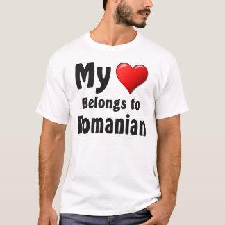T-shirt Mon coeur appartient au Roumain