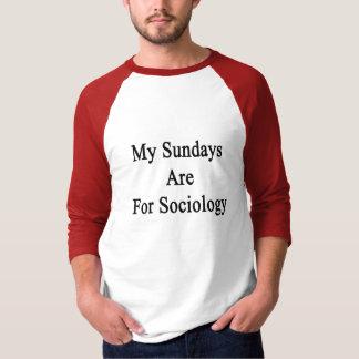 T-shirt Mon dimanche est pour la sociologie