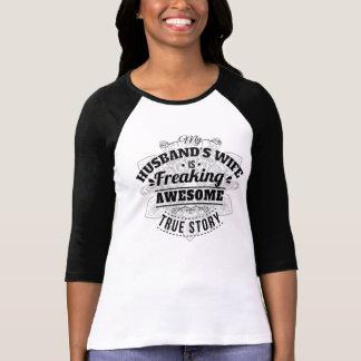 T-shirt Mon épouse de maris est Freaking impressionnant -