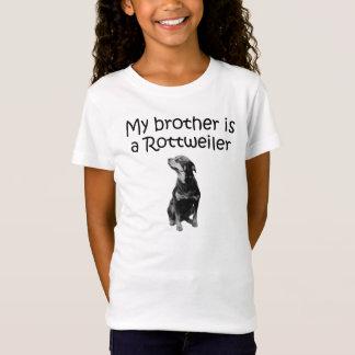 T-Shirt Mon frère est un rottweiler