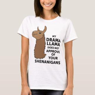 T-shirt Mon lama de drame n'approuve pas votre malice