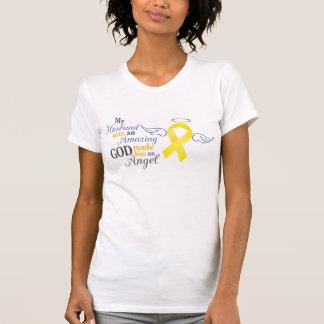 T-shirt Mon mari un ange - cancer de la vessie