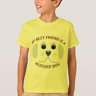 T-shirt Mon meilleur ami est un chien secouru