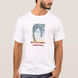 T-shirt Mon Noël de la Californie, palmier avec des