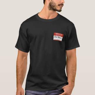 T-shirt Mon nom est : Posture accroupie de Jack (ne font