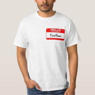 T-shirt Mon nom est rouge fait sur commande vide de