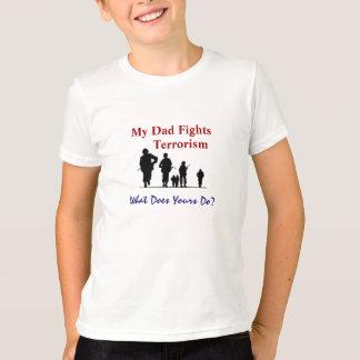 T-shirt Mon papa combat le terrorisme