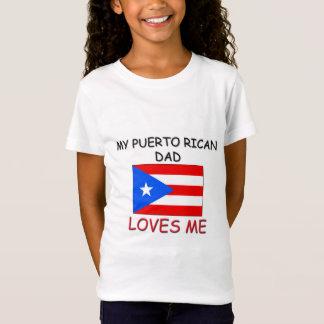 T-Shirt Mon PAPA de PORTORICAIN m'aime