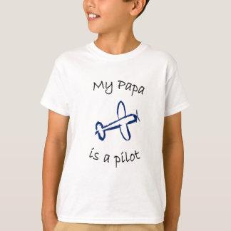 T-shirt Mon papa est un pilote