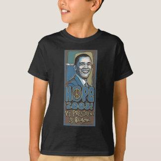 T-shirt Mon président est chemise noire d'Obama