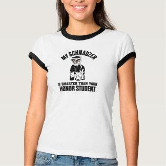 T-shirt Mon Schnauzer est plus futé que votre étudiant