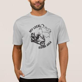 T-shirt Mon secteur de monte local - liste de pointage