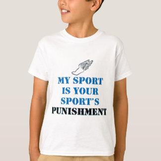 T-shirt Mon sport est votre punition de sports - voie