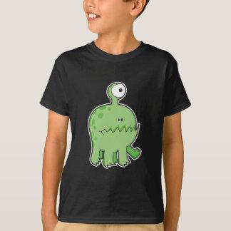 T-shirt mon vert de monstre de cyclopes d'animal familier
