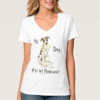 T-shirt Mon whippet a mangé mon travail