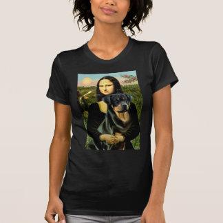 T-shirt Mona Lisa - rottweiler (#3)