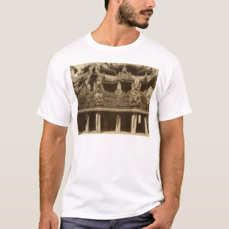 T-shirt Monastère ou pagoda, détail, probablement Mandalay
