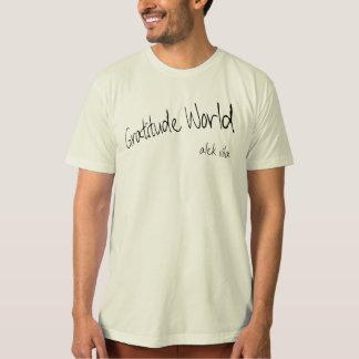 T-shirt Monde de gratitude d'Alek Vila naturel (organique)