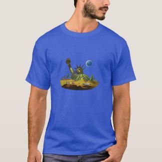 T-shirt Mondes de SciFi - la terre dans les ruines