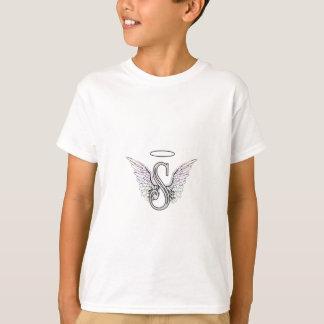 T-shirt Monogramme initial de la lettre S avec des ailes
