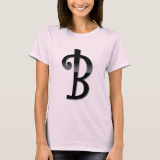 T-shirt Monogramme noir de lustre - B
