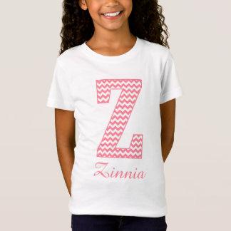 T-Shirt Monogramme rose classique de très bon goût de la