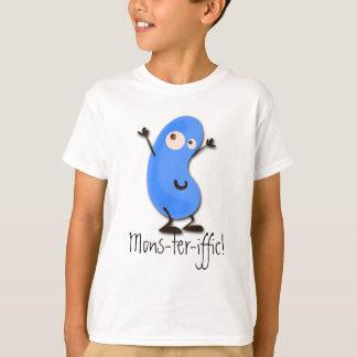 T-shirt Monstre bleu mignon d'haricot