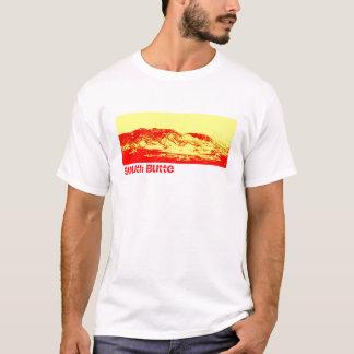 T-shirt Montagne rouge T de butte du sud