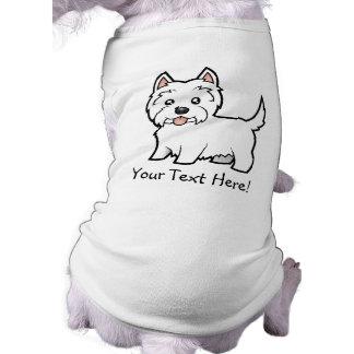 T-shirt Montagne Terrier blanc occidentale de bande