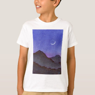 T-shirt Montagnes d'Orion et de croissant de lune