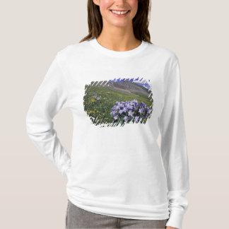 T-shirt Montagnes et fleurs sauvages dans le pré alpin,