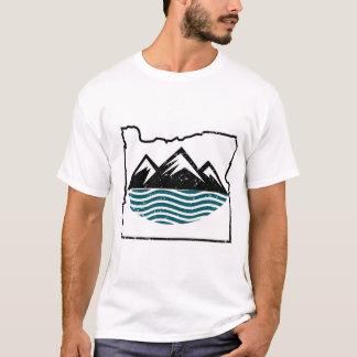 T-shirt Montagnes et vagues de l'Orégon