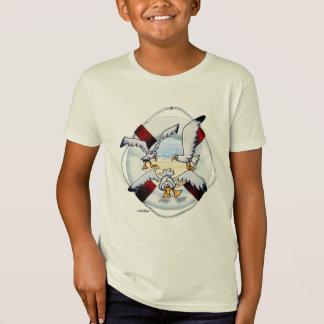 T-shirt montant de mouettes