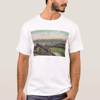 T-shirt Monterey, CA - vue d'oeil d'oiseau de Monterey