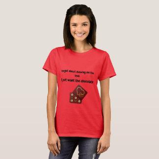 T-shirt Montrez-moi la chemise de chocolat