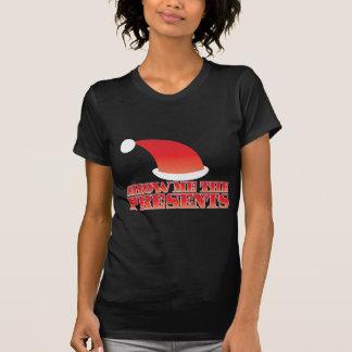 T-shirt Montrez-moi les PRÉSENTS ! avec le petit casquette