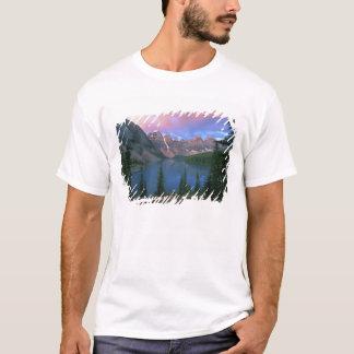 T-shirt Moraine du Canada, Alberta, lac à l'aube, Banff