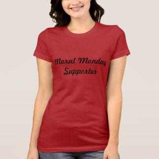 T-shirt moral de défenseur de lundi