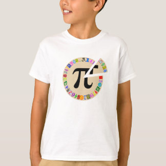 T-shirt Morceau drôle et coloré de pi calculé