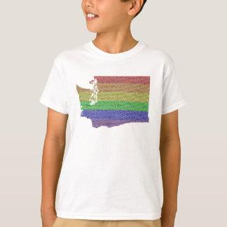 T-shirt Mosaïque de drapeau de fierté d'arc-en-ciel de