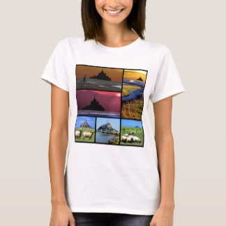 T-shirt Mosaïque de Mont-Saint-Michel d'abbaye