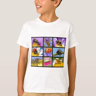 T-shirt Mosaïque de photos des insectes