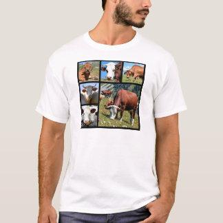 T-shirt Mosaïque de photos des vaches