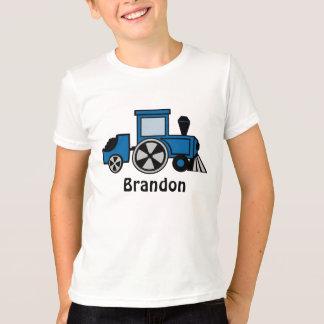 T-shirt Moteur bleu de train de voies heureuses
