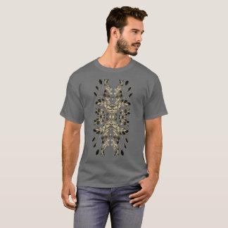 T-shirt Motif bronzage de feuille sur la chemise