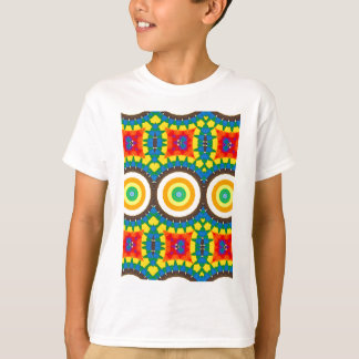 T-shirt Motif coloré de point de kaléidoscope