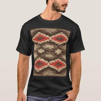 T-shirt Motif de Brown/Navajo de terre cuite