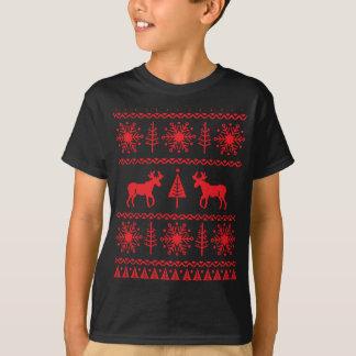T-shirt Motif de fête de chandail de Noël