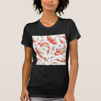 T-shirt Motif de fleurs de cerisier de Koi